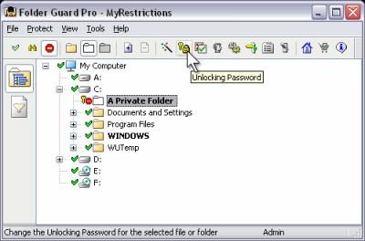 Folder Guard Professional 7.91 screenshot