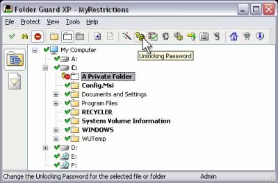Folder Guard XP Edition 7.91 screenshot
