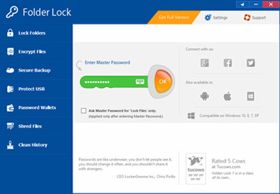 Folder Lock 7.8.0 screenshot