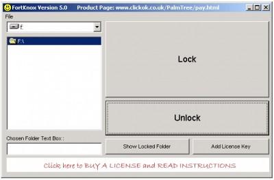 Folder Locking Software (FortKnox) 5.0 screenshot