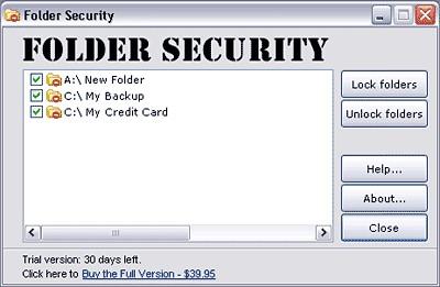 Folder Security 2.6 2.6 screenshot