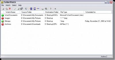 FolderWatch 3.12 screenshot