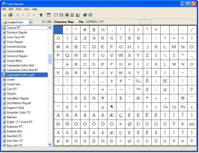 Font Viewer 3.0 screenshot