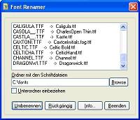 FontRenamer 1.0 screenshot