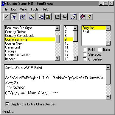 FontShow 2000 3.6 screenshot