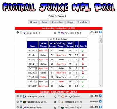Football Junkie NFL Pool 2015.0.0.0 screenshot