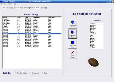 Football Roster Organizer 1.2 screenshot