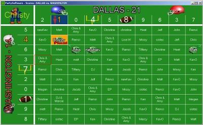 Football Squares 2013 screenshot