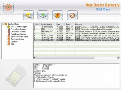 Forensics Sim Card Recovery Utility 3.0.1.5 screenshot