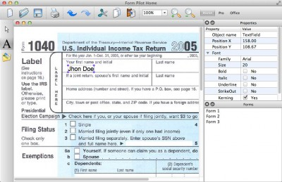 Form Pilot for Mac 3.2 screenshot