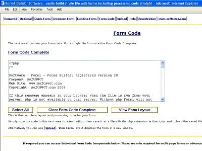 Form1 Builder Software 30 screenshot