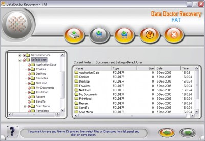 Formatted FAT Partition Recovery 2.0.1.5 screenshot