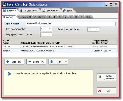 FormCalc for QuickBooks 1.123 screenshot