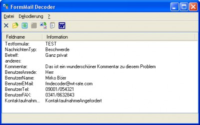 FormMail Decoder 2.30 screenshot