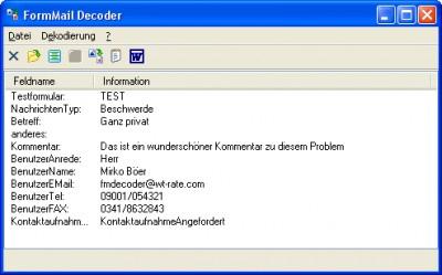 FormMail Decoder 2.30 screenshot