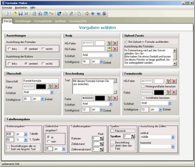 Formular-Maker 1.6.3 screenshot