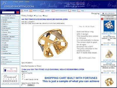FORTUNE3 Shopping Cart Ecommerce Online 2010 screenshot