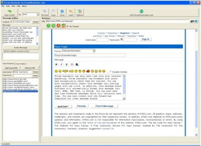 Forum Dominator 2.34 screenshot