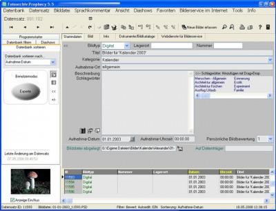 Fotoarchiv Prophecy 5.5 screenshot