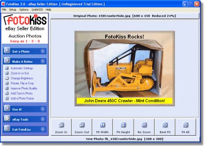 FotoKiss Auction Photo Editor 3.4 screenshot