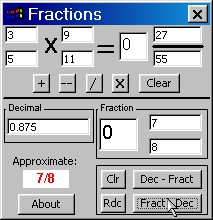 Fractions n Decimals CE 5.3 screenshot