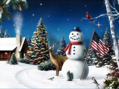Božićne slike Free-american-snowman-screensaver