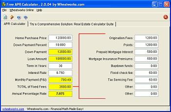 Free APR Calculator 2.1.00 screenshot