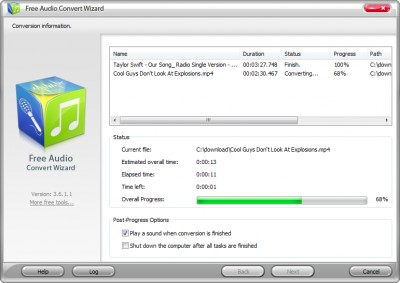 Free Audio Convert Wizard 8.2.1 screenshot