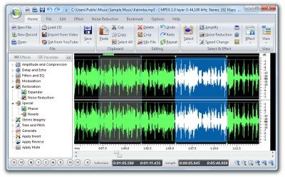 Free Audio Editor 8.2.1 screenshot