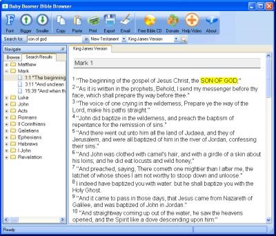 Free Baby Boomer Bible Browser 2.5.8 screenshot