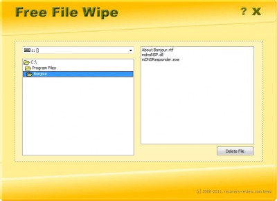 Free File Wipe 1.6 screenshot