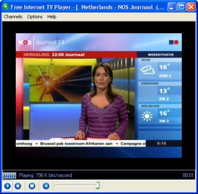 Free Internet TV Player lite 1.5 screenshot