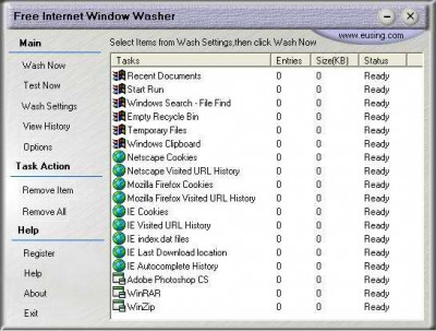 Free Internet Window Washer 4.0 screenshot