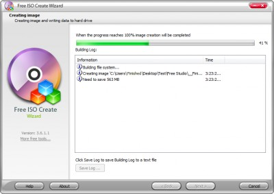 Free ISO Create Wizard 8.2.1 screenshot