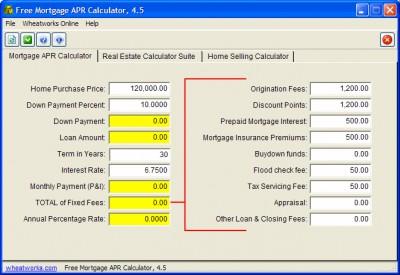 Free Mortgage APR Calculator 4.5.01 screenshot