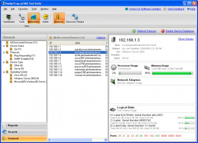 Free PacketTrap Network Discovery 2.3.11 screenshot