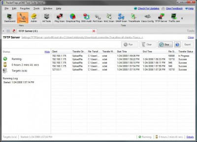 FREE PacketTrap TFTP Server 2.3.11 screenshot