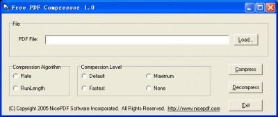 Free PDF Compressor 1.12 screenshot