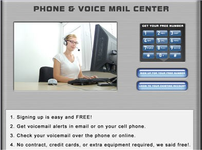 Free Phone Number With Voice Mail Center 2.0 screenshot