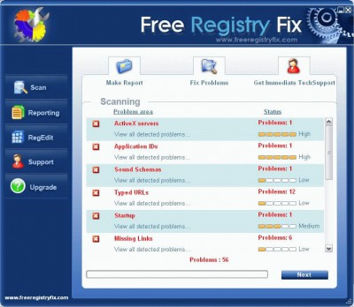 Free Registry Fixer 5.6 screenshot