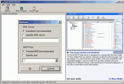 Free SMTP Server 2.5997 screenshot