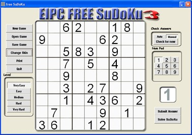 free SuDoKu 3.87 screenshot