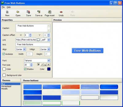 Free Web Buttons 1.01 screenshot