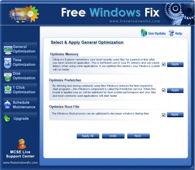 Free Windows Fix 2.1.0.0 screenshot