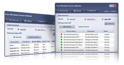Free Windows Service Monitor 1.0.0.1 screenshot