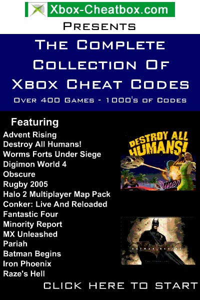 Free Xbox Cheats Collection 0106 screenshot