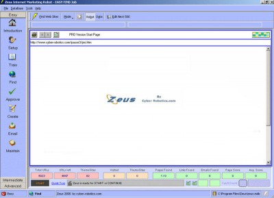 Free Zeus PRO  Internet Link Robot 5.0 screenshot