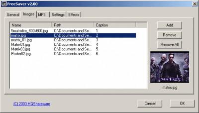 FreeSaver MP3 2.30 screenshot