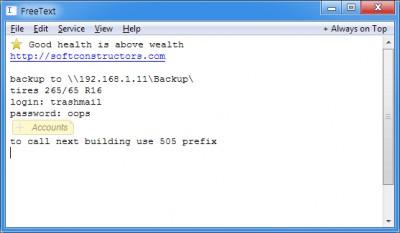 FreeText 1.46 screenshot