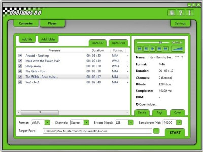 freeTunes 3.0 3.0.12.309 screenshot